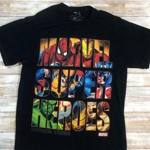 ⚒MARVEL Men's Medium Super Hero's T-Shirt